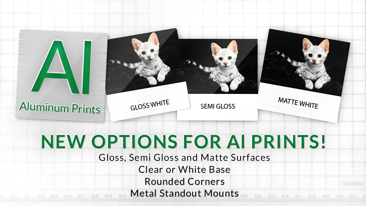 New Aluminum Print Options